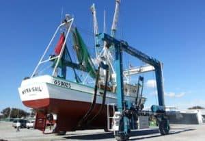 marine travelift 100 ton capacity