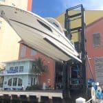 Launching Boat at Drystack Marina