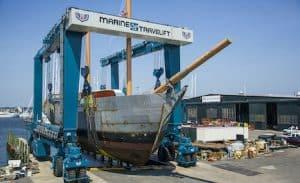 Lift for 500 Ton Boats at Marina