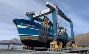 Commercial Boat Yard Lift in Alaska