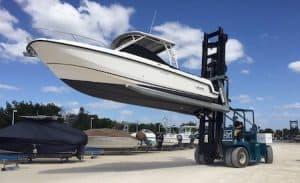 20000 lbs marine travelift forklift