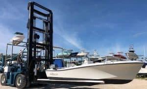 26,000 lbs marina forklift
