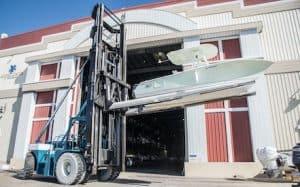 52,000 lbs drystack commercial boat forklift