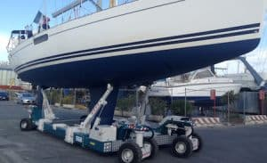 Sailboat Hydraulic Trailer for 20 Tons
