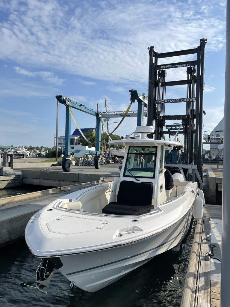 Marine Forklift and Boat Hoist